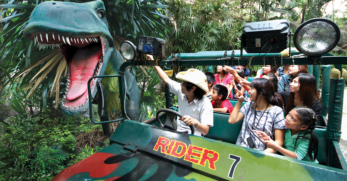 Siam Park City Bangkok Thailand Jurassic Adventure in Family World