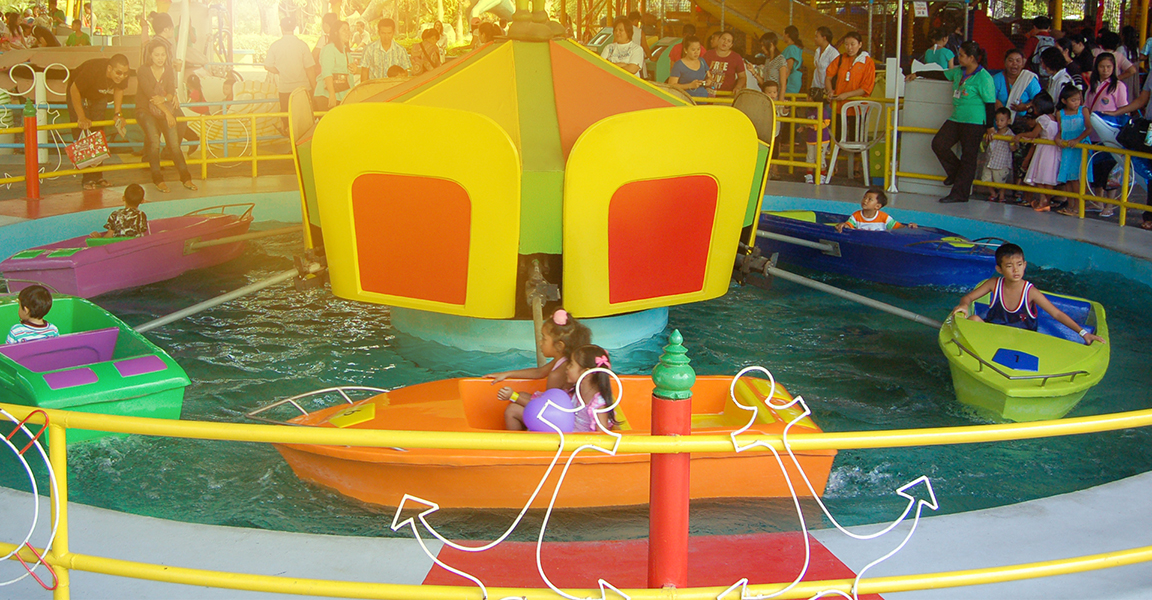 Siam Park City Bangkok Thailand Mini Boat Ride in Small World