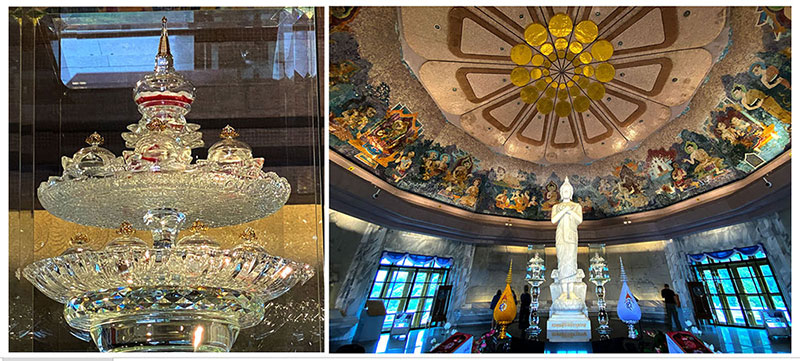 Lord Buddha's relics at King and Queen Pagoda