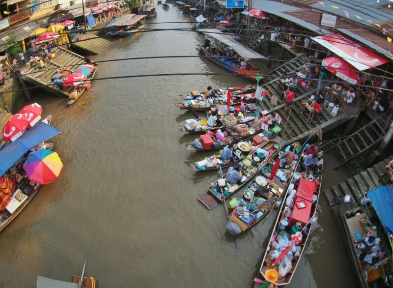 Risky Market and Amphawa Floating Market