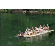 BamBoo Rafting at Taweechai Elephant Camp