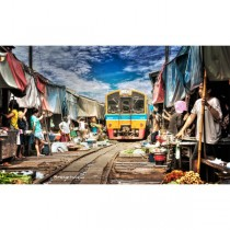 Risky Market and Damnoen Saduak Floating Market Half Day Tour
