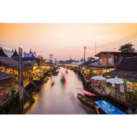 Damnoen Saduak,  Train Market and Amphawa Floating Market Day Trip by VIP Van