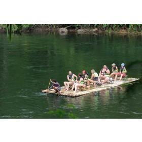 BamBoo Rafting at Taweechai Elephant Camp