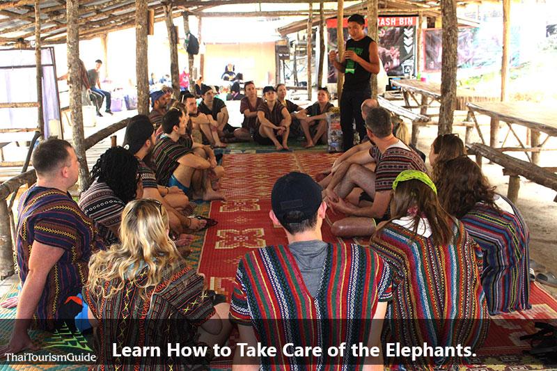 Learning Thai Elephant Chiang Mai from Karen peaple.
