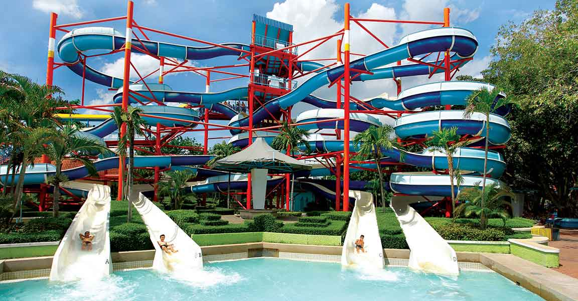 Siam Park City Bangkok Thailand Super Spiral