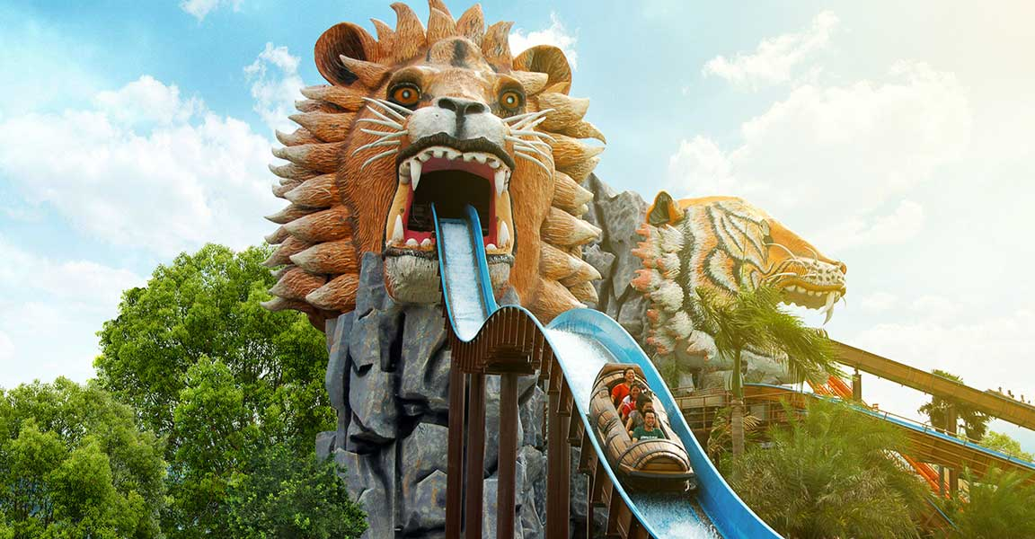 Siam Park City Bangkok Thailand Log Flume in Family World