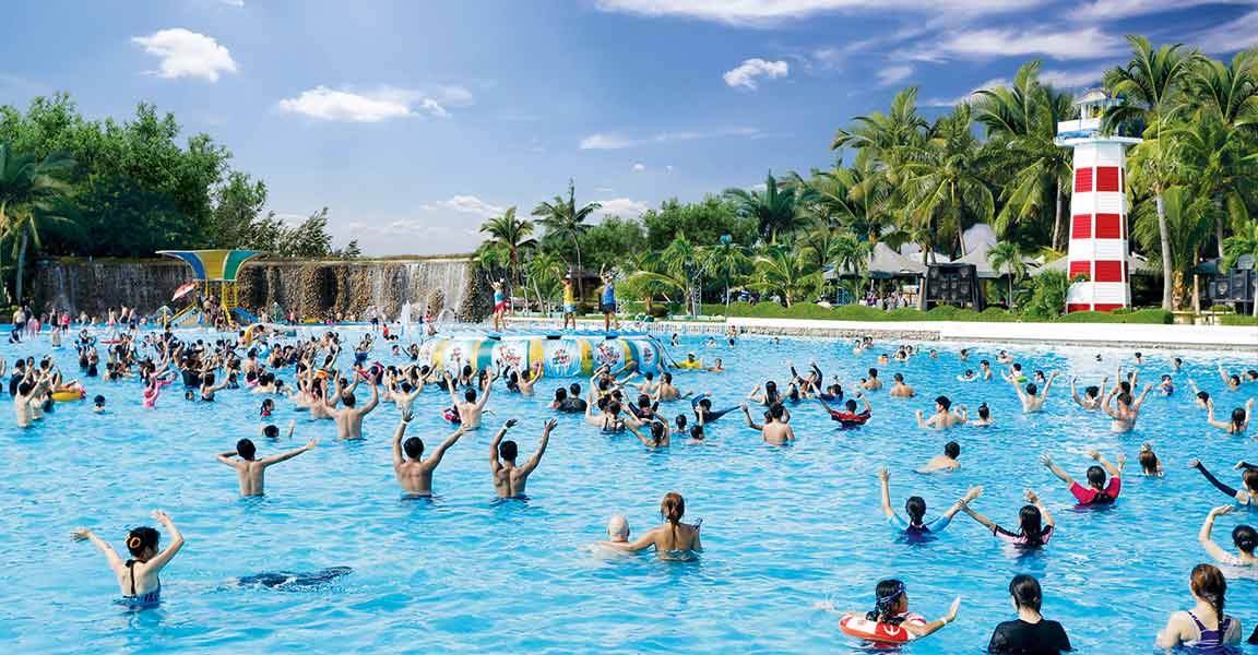Siam Park City Bangkok Thailand Wave Pool