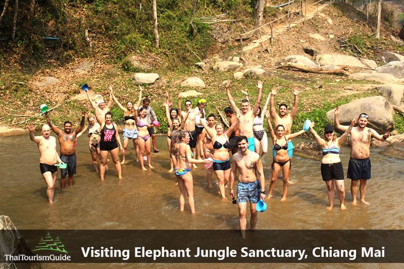 One day tour elephant sanctuary Chiang Mai Thailand
